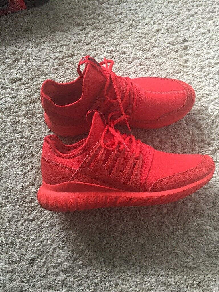 reputable site 8a89e 0edbf ADIDAS ORIGINALS TUBULAR RADIAL MENS TRAINERS RED UK SIZE 9 | in Forest  Hill, London | Gumtree