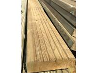 FREE DELIVERY when purchasing 5 or more. 3m x 32mm x 120mm Decking boards