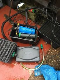 Fish pond pump and filters