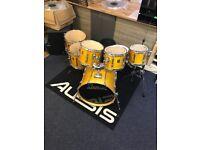Premier XPK 90s natural wood gloss drum kit