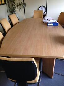 Conference table and 8 comfortable chairs