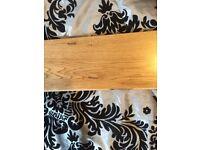 Engineered oak flooring. 18mm 150mm brushed oiled £21 per sq meter.