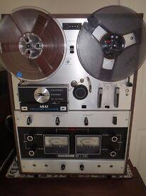 Akai M-10 Vintage Reel To Reel Tape Recorder 1968 Analog Plus Extras & Tapes HiFi Record Analogue