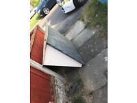 Fibre glass roof for above door