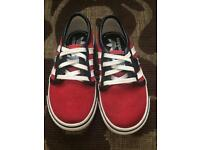 Red Adidas shoes size 7.5 child