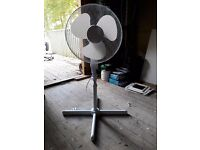 White oscillating pedestal fan - adjustable up to 4 foot high