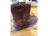 Brown children's ugg biker boots size uk 2. Never worn