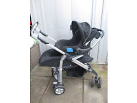 Silver Cross 3d Travel System Pram/Pushchair (Black) with Carseat -Offers welcome
