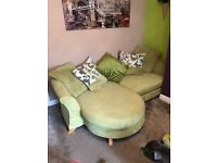 DFS Lime green, 4 seater Sofa