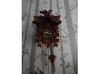 Cukkoo wooden clock with modern internal bits/batteries