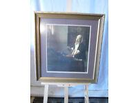 Vintage Large Framed & Glazed Print of Vermeer's 'Woman Holding a Balance'.
