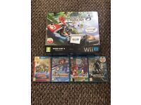 Wii u 32Gb With Mario Kart 8 pre installed + 4 games