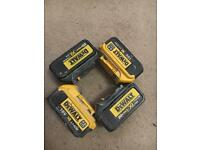 Dewalt XR 4ah batteries 18v
