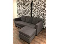 Dark grey minimalist style sofa