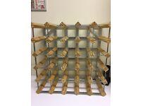 Wine Rack, Wine Making, Home Brewing, 30 bottle wood & metal wine rack