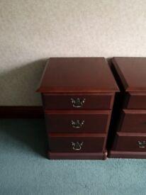 3 piece bedside drawers and dresser set