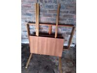 70's style Teak extendable table and 6 chairs