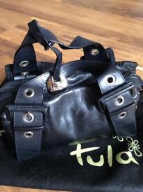 Black leather Tula handbag