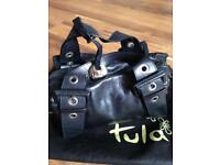 Black leather Tula handbag
