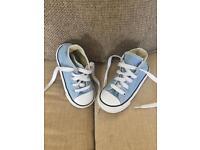Pastel blue converse size 6