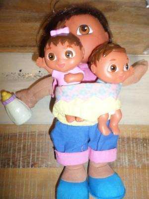 Nick Jr. Big Sister Dora Plush Brother & Sister Plush 5