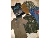 Boys Large bundle of designer clothes shoes