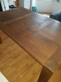 Solid wood Table 1.5m length 90cm wide