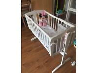Rocking baby crib / cot