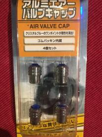 Air value caps - blue crystal effect