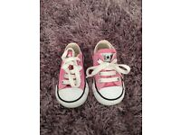 Size 4 pink Converse