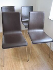 Habitat Leather Dining Chairs