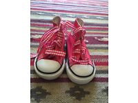 Converse baby trainers. Size crib 4 never worn