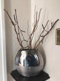 Fake plant and fairy light decoration