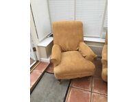Multiyork gold sofa and chair