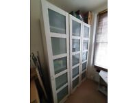 IKEA Wardrobes with frosted glass doors for sale