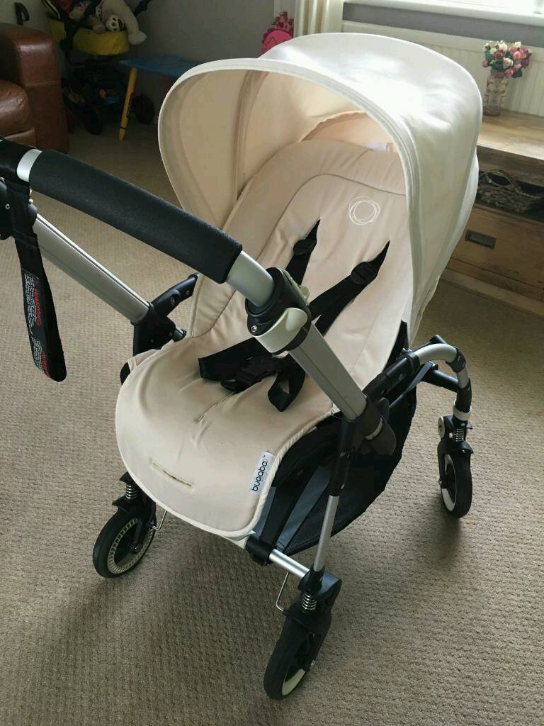 bugaboo bee plus with off white hood including seat liner in isleworth london gumtree. Black Bedroom Furniture Sets. Home Design Ideas