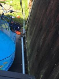 Scaffolding pole and brackets