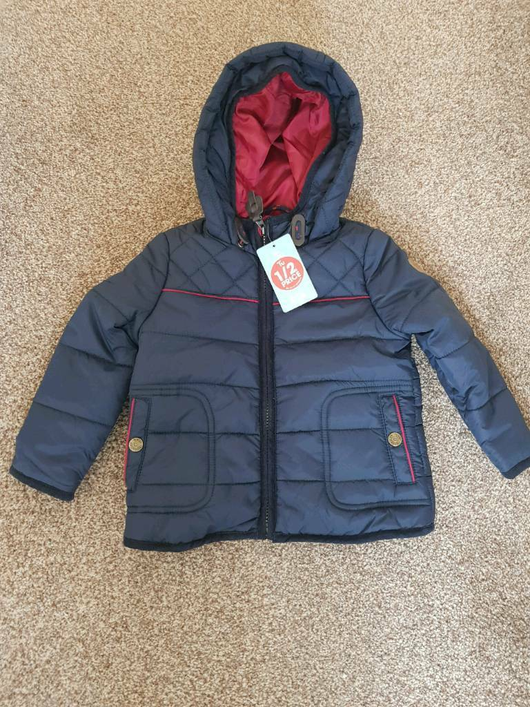 121eaffcbc39 BNWT Boys navy winter coat 12-18 months
