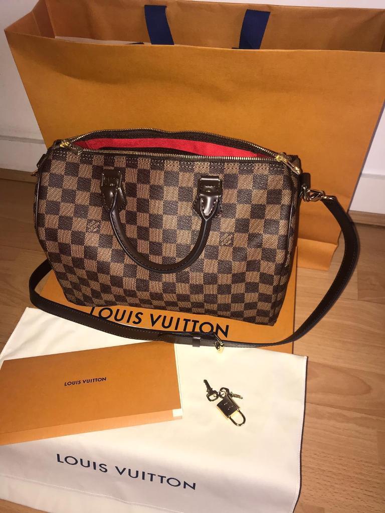 bff446298a Authentic Louis Vuitton Speedy 30 Bag Damier Ebene