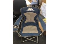 2x hardly used Trespass comfortable camping chair