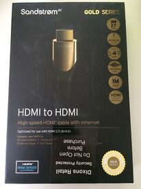 New HDMI to HDMI cable 1m