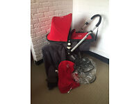 Bugaboo Cameleon with rain cover and carrycot