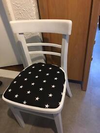 Lovely white chair for kids room