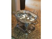 Chaffing Dish 5qt 4.7 litre Stainless Steel - Qty = 2 units with fuel heaters - Collection Only.