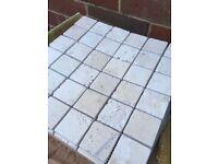 Travertine Natural Stone mini wall tiles 30 cm sq sheets