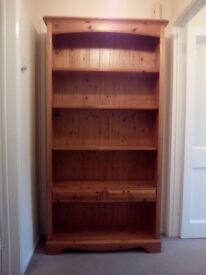 Large solid wooden bookcase made by Lovelace