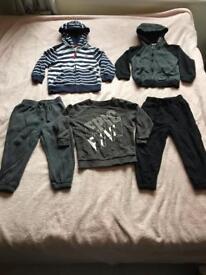 Boys 3-4 years clothes bundle jackets jumper joggers
