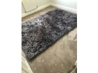 Smoke grey plush rug XL RRP £225