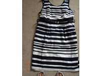 LADIES SIZE 20 STRIPED M AND CO DRESS. EXCELLENT CONDITION
