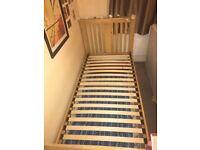 Beech frame single bed